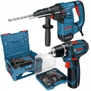 Perforateur-burineur SDS-Plus GBH 3-28 DFR + Perceuse GSR 10.8V Coffret L-Boxx - Bosch professionnel 0615990H1E