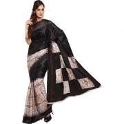 Parchayee Printed Black Synthetic Art Silk Saree 94307B