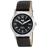 Vestal Unisex ABC3C05 Alpha Bravo Canvas Analog Display Quartz Black Watch