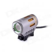 LusteFire P10 LED 5-Mode 800LM Blanco sumergio la Luz Haz bicicleta w / Efecto de Halo - Gris + Oro