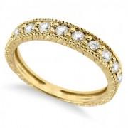 Diamond Anniversary Ring 14k Yellow Gold (0.55 ctw)
