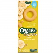 Organix - Biscuiti Finger pentru Bebelusi, Banane, 7+ luni