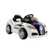 Bugatti Kids Ride On Car with Remote Control Blue White
