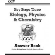 KS3 Science Answers for Study & Question Books (Biology/Chemistry/Physics) - Higher by CGP Books