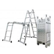 Hliníkové štafle G21 GA-SZ-4x3-3,7M multifunkční + podlážka G21