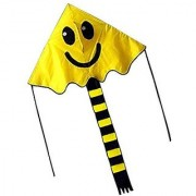 Hengda Kite For Kids YELLOW 47-inch Smiling Face Kite Delta Outdoor Sports Toy For Children
