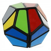 2 x 2 x 2Irregular Shaped Dodecahedron Cube - Black + Multicolor