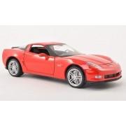 Chevrolet Corvette Z06, rojo , 2007, Modelo de Auto, modello completo, Welly 1:24