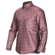 Maatoverhemd rood/wit 53335