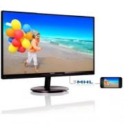 """Monitor Philips 234E5QDAB/00, 23"""", AHIPS, 1920x1080, 20m:1, 250cd, 5ms, VGA, DVI, HDMI+MHL, repro, čierny, úzky rám"""