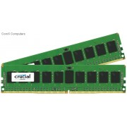Crucial 16GB(8GBx2) DDR4 2133MHz Unbuffered ECC DIMM PC4-17000 CL15 1.2V Server Memory