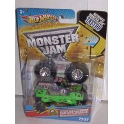 2011 HOT WHEELS 1:64 SCALE GRAVE DIGGER TRAVEL TREADS TATTOO MONSTER JAM TRUCK. #79/80 by Hot Wheels
