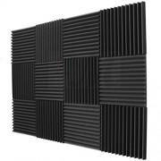 "12 Pack Acoustic Panels Studio Foam Wedges 1"" X 12"" X 12"""