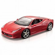 Ferrari 458 Italia, Red - Bburago 26003 - 1/24 scale Diecast Model Toy Car