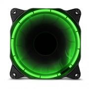 anidees AI Halo Crimson Red ventilatore 120 millimetri con un elevato flusso d'aria e l'illuminazione a LED - Rosso (Verde)