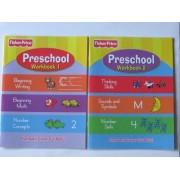 Fisher Price Preschool Pre School Workbooks Vol 1 & 2 2pc Set