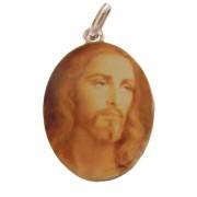 Pingente de Ouro com foto gravada / Fotogravação Colorida 19 mm x 14.2 mm