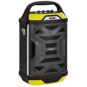 Sistem boxa mobila Quer KOM0875, 20W + 5W, Bluetooth, Radio FM (Negru/Galben)