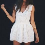 Koronkowa sukienka oversize