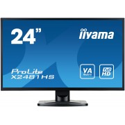 iiyama ProLite X2481HS-B1 24' LED LCD 1920x1080 VA 250cd/m² 12M:1 ACR VGA HDMI DVI 6ms TCO6 speakers