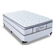 Conjunto Box Colchão Probel Molas Pocket Perfil Springs Premium White + Cama Box Courino White - Conjunto Box Queen Size - 158 x 198