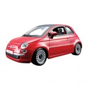 Fiat 500 2007 Red-Metallic 1:24 Bburago