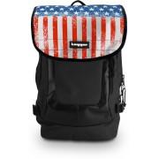 Tagger Urban Electro Stars & Stripes Bsly_olbk (Black) Top Loaded Ultimate 21 L Laptop Backpack(Black)