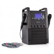 auna KA8B-V2 BK Karaokeanlage CD-Player 2x Mikrofon schwarz inkl. 3x Karaoke-CD