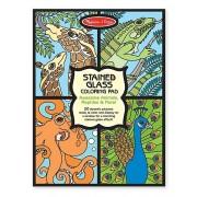Set de colorat vitralii cu animale