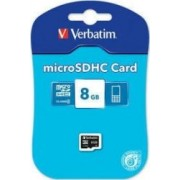 Card de Memorie Verbatim microSDHC 8GB Class4
