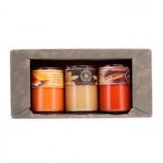Hand-Poured Soy Candles Gift Set: Cinnamon Stick + Orange Spice + Vanilla 3pcs Подаръчен Комплект от Ръчно Изляти Свещи от Соя: Cinnamon Stick + Orange Spice + Vanilla