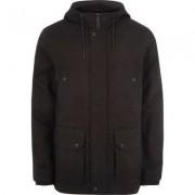 River Island Black hooded borg lined jacket