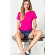 Pijama Feminino Mixte Adulto Modal Pink com - Xadrez Azul