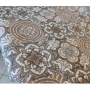 Törtfehér organza betétes alkalmi dekor terítő/Cikksz:0210370
