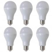 vidaXL LED крушки, топло бяла светлина, 9 W E27 – 6 броя