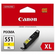 CANON CLI-551XLY, Yellow InkJet Cartridge (BS6446B001AA)