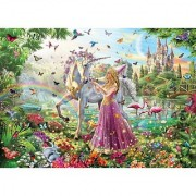 White Mountain Puzzles Princess Unicorn - 100 Piece Jigsaw Puzzle