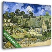 Vincent Van Gogh: Nádfedeles házikó Cordeville-ben (30x25 cm, Vászonkép )