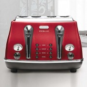 DeLonghi CTOM4003 R Icona Vintage Toster 4 sloty, 1800 W