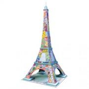 Puzzle 3D Turnul Eiffel colorat, 216 piese, RAVENSBURGER Puzzle 3D