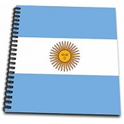 3dRose db_157814_2 Argentinian Flag Argentina Patriotism Blue White Yellow Sun Of May Bandera Official De Ceremonia Memory Book 12 x 12