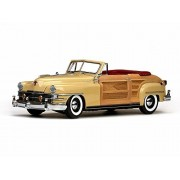 1948 Chrysler Town & Country Convertible, Yellow Lustre Sunstar 6140 1/18 Scale Diecast Model Toy Car