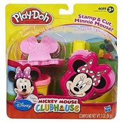 Mickey Mouse Clubhouse set lets you stamp and cut Minnie Mouse shapes-Includes 2-in-1 cutting tool stamper roller and