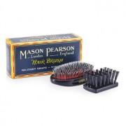 Mason Pearson Boar Bristle & Nylon - Medium Junior Military Nylon & Bristle Hair Brush (Dark Ruby) - Hair Care