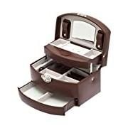 Davidt's Promliss Medium Auto Opening Synethetic Jewel Box in Chestnut