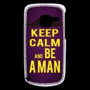 Coque Nokia C3 Keep Calm Be A Man Violet