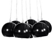 Suspension design 'BILBO' 7 boules noires suspendues