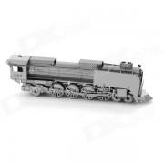 Locomotora de vapor montado de juguetes educativos para ninos / ninos - plata antigua + Negro