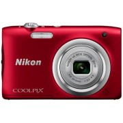 Aparat Foto Digital NIKON COOLPIX A100, Filmare HD, 20.1 MP, Zoom optic 5x (Rosu)