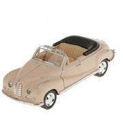 Magideal Pull Back Model Classic Convertible Car Toy Kids Gift-Light Brown